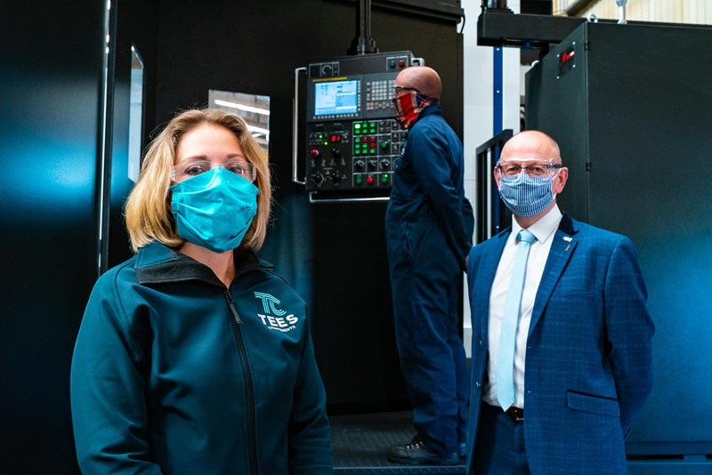 Tees Components unveils latest £500,000 precision boring equipment in 'virtual' commissioning ceremony